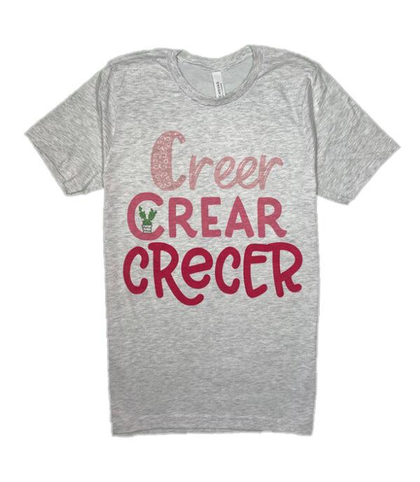 creer crear crecer bilingual shirt